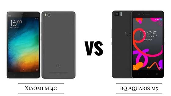 bq m5 vs xiaomi mi4c