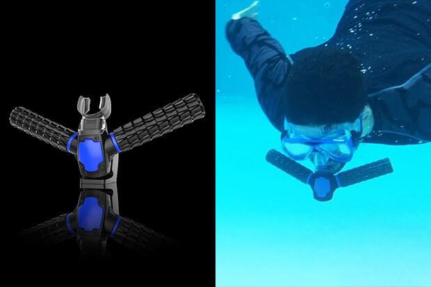 triton respirar bajo agua