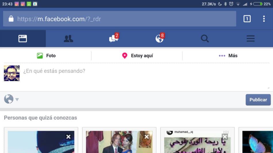 Facebook en el navegador del movil (9)