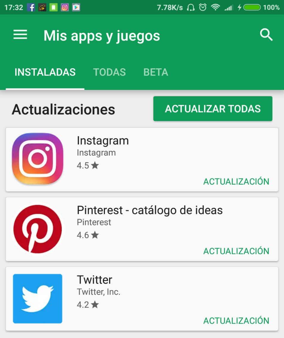 Quitar actualizaciones automáticas Google Play