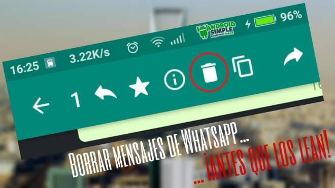 Cómo borrar mensajes de Whatsapp final