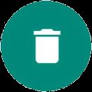 Icono de papelera de Whatsapp