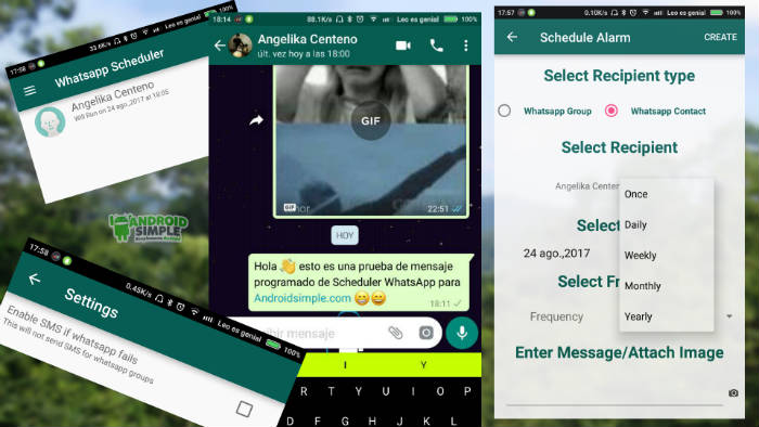 Enviar mensajes programados de Whatsapp