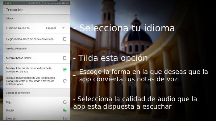 Convertir notas de voz de Whatsapp en Texto