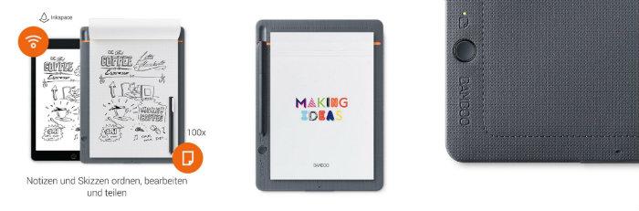 Cuaderno digital con lápiz inteligente