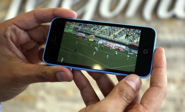 ver fútbol en el móvil