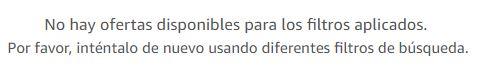 Aviso sobre ofertas de Amazon España