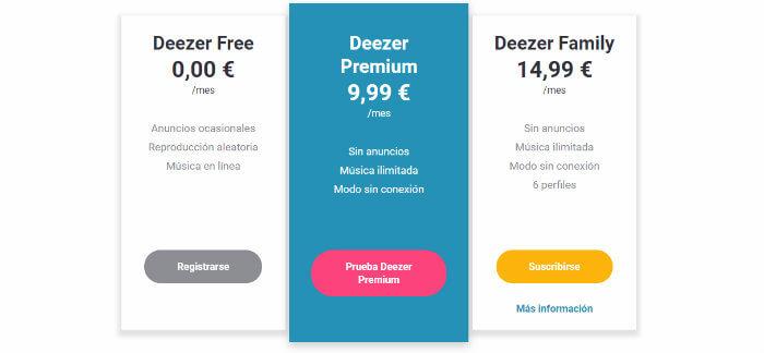 precios deezer