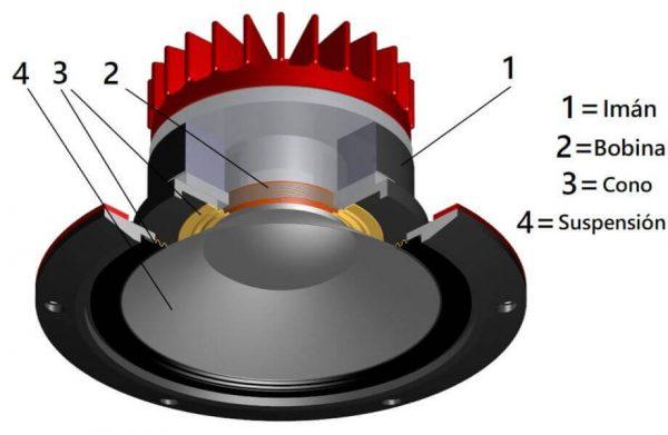 componentes de un altavoz