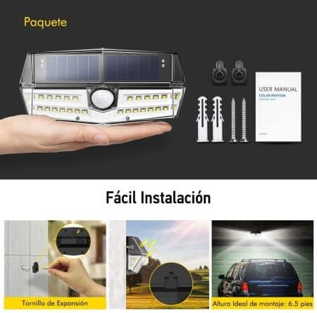 Instalación lámparas solares