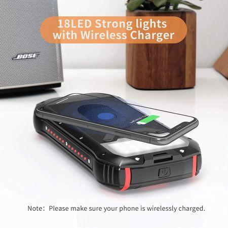 carga wireless power bank solar