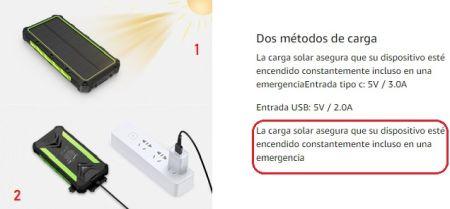metodos carga powerbanks solares