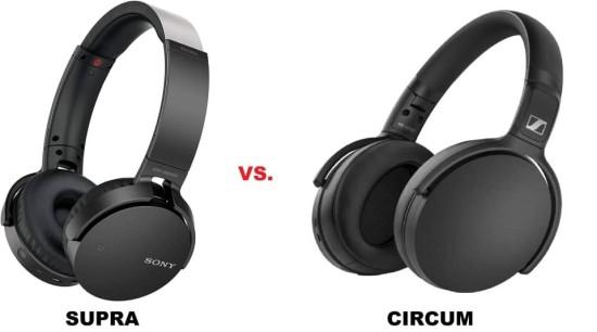 supra vs circum auriculares bluetooth